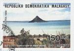 Ile Lonjy dans la Baie de Diego Suarez: 150-Franc (30-Ariary) Postage Stamp
