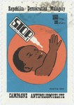 Stop Polio Campaign: 150-Franc (30-Ariary) Postage Stamp