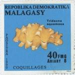 Shells: Tridacna squamosa: 40-Franc (8-Ariary) Postage Stamp