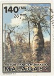 Adansonia fony Baobabs: 140-Franc (28-Ariary) Postage Stamp
