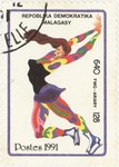 Figure Skating, Winter Olympics: 640-Franc (128-Ariary) Postage Stamp