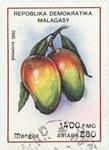 Front: Mangoes: 1,400-Franc (280-Ariary) P...