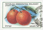 Oranges: 50-Franc (10-Ariary) Postage Stamp