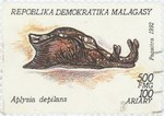 Aplysia depilans: 500-Franc (100-Ariary) Postage Stamp