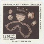 Sakalava Jewelery: 1,250-Franc (250-Ariary) Postage Stamp