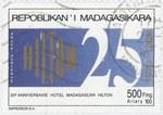 Hilton Hotel Madagascar, 25th Anniversary: 500-Franc (100-Ariary) Postage Stamp