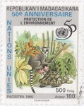 United Nations: Protection of the Environment: 500-Franc (100-Ariary) Postage Stamp