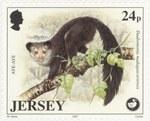 Aye-Aye, Daubentonia madagascariensis: 24-Pence Postage Stamp