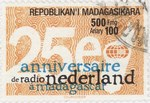 Radio Nederland in Madagascar, 25th Anniversary: 500-Franc (100-Ariary) Postage Stamp