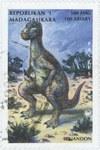 Iguanodon: 500-Franc (100-Ariary) Postage Stamp