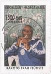 Flautist Rakoto Frah: 1,500-Franc (300-Ariary) Postage Stamp