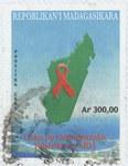 HIV/AIDS: 300-Ariary Postage Stamp