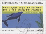 Ile Sainte Marie Whale Festival: 1,100-Ariary Postage Stamp