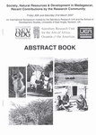 First Page: Abstract Book: Society, Natural Res...
