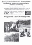 First Page: Programme & List of Participants: S...