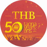 Top View: THB Beer Mat: Circular, 50th Annive...