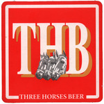 Top View: THB Beer Mat: Square
