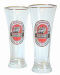 Front View: Pair of THB Beer Glasses