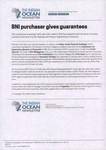 Front: BNI purchaser gives guarantees: Art...