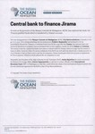 Central bank to finance Jirama