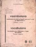 Voambolana ampiasaina eo amin'ny Fanabeazana ny Tanora ho Olom-pirenena / Vocabulaire pour l'�ducation civique des Jeunes