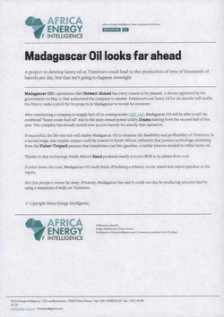 Madagascar Oil looks far ahead: Article from Africa Energy Intelligence, Issue 724, 10 June 2014