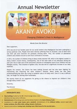 Akany Avoko: 2012 Annual Newsletter: alternative version
