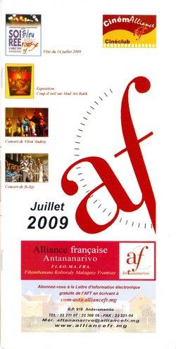 Julliet 2009: Alliance Française, Antananarivo: Fi.Ko.Ma.Fra (Fikambanana Koltoraly Malagasy Frantsay)