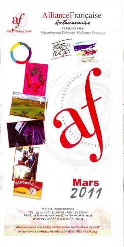 Mars 2011: Alliance Française, Antananarivo: Fi.Ko.Ma.Fra (Fikambanana Koltoraly Malagasy Frantsay)