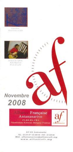Novembre 2008: Alliance Française, Antananarivo: Fi.Ko.Ma.Fra (Fikambanana Koltoraly Malagasy Frantsay)