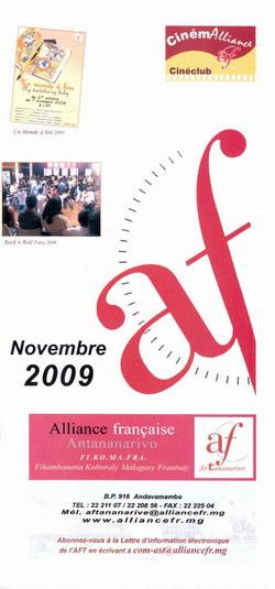 Novembre 2009: Alliance Française, Antananarivo: Fi.Ko.Ma.Fra (Fikambanana Koltoraly Malagasy Frantsay)