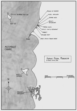 Anakao Region, Madagascar: Regional Map & Village Plan