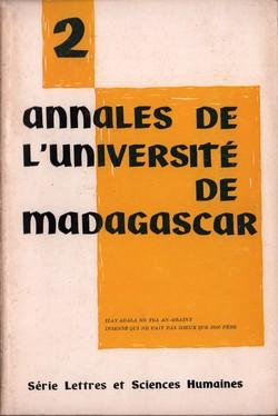 Annales de l'Université de Madagascar: Série Lettres et Sciences Humaines: No. 2