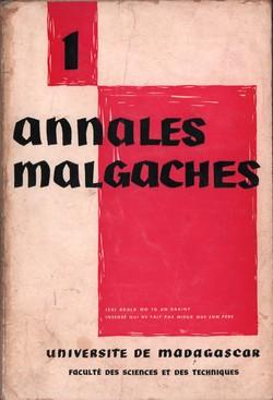 Annales Malgaches: Université de Madagascar: Faculté des Sciences et des Techniques: No. 1