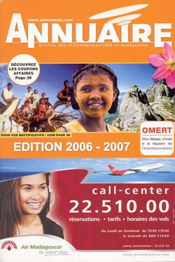 Annuaire Officiel des Télécommunications de Madagascar: Edition 2006-2007