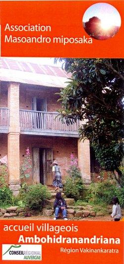 Association Masoandro miposaka: Accueil villageois: Ambohidranandriana, Région Vakinankaratra