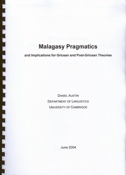 Malagasy Pragmatics: And Implications for Gricean and Post-Gricean Theories