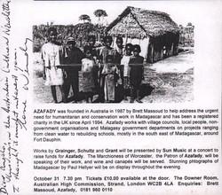 Azafady: Australian Cultural Newsletter