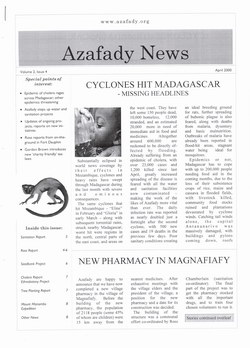 Azafady News: April 2000: Volume 2, Issue 4
