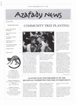 Azafady News: October 2000