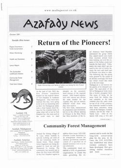 Azafady News: October 2001
