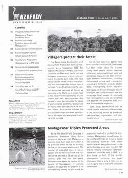 Azafady News: April 2004