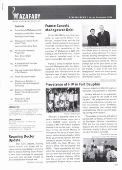 Azafady News: November 2004