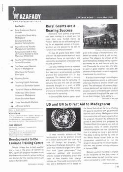 Azafady News: May 2005