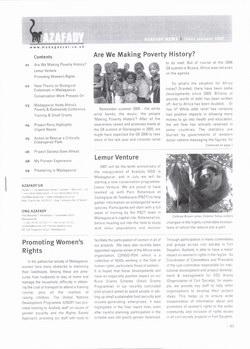 Azafady News: January 2007