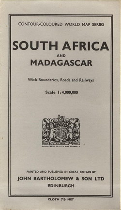 South Africa and Madagascar: With Boundaries and Railways