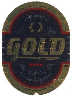 Bottle Label from Gold: Bière spéciale; Brasseries Star Madagascar; 65cl