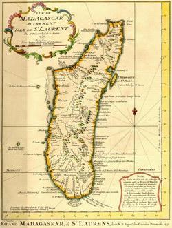 Isle de Madagascar, autrement Isle de St. Laurent: Eiland Madagaskar, of St. Laurens