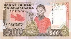 Ariary Zato / 500 Francs
