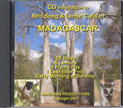 CD Introduction to Bird Song & Lemur Calls in Madagascar: 59 Birds, 6 Lemurs, 1 Flying Fox, 1 Leaf-Litter Frog, Early Morning at Berenty